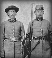 Captain M T Nunnally, commanding commanding Company H and his brother First Sergeant J E Nunnally, Company H, 11th Georgia Infantry
