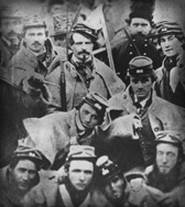 Members of Company A, 1st Virginia Infantry, at John Brown's execution in 1859